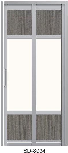 Slide & Swing Toilet Door SD-8034
