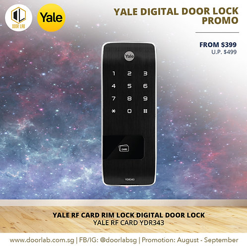 Yale Proximity Card Rim Lock YDR343 Digital Door Lock