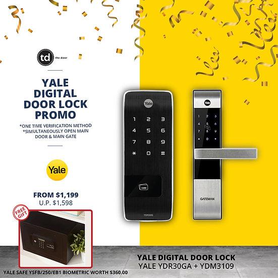 Yale YDR30GA+ YDM3109A Digital Door Lock Bundle Deal