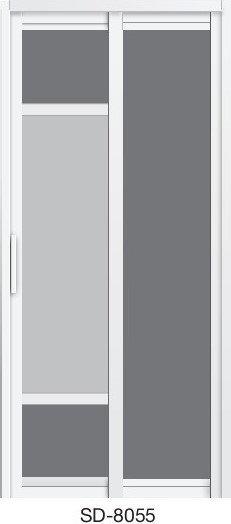 Slide & Swing Toilet Door SD-8055