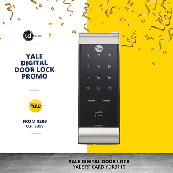 Yale RF Card YDR3110 Digital Door Lock