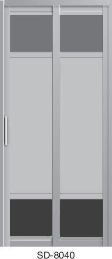 Slide & Swing Toilet Door SD-8040