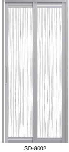 Slide & Swing Toilet Door SD-8002