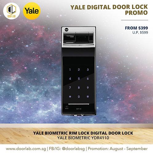 Yale Premium Biometric Rim Lock YDR4110 Digital Door Lock