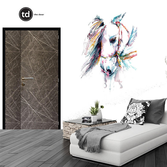 Laminate Main Door- TD1909 Black Matt Marble