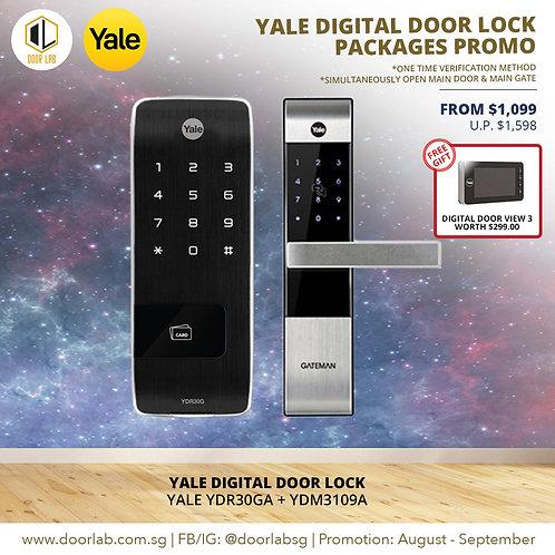Yale Digital Door Lock Bundle Deal YDR30GA + YDM3109A