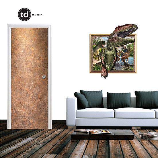 Laminate Solid Bedroom Door- TD1906 Metallic