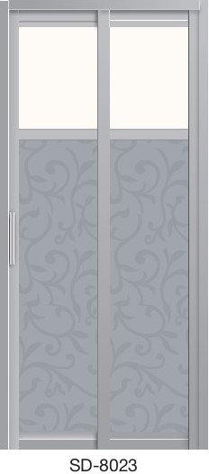 Slide & Swing Toilet Door SD-8023