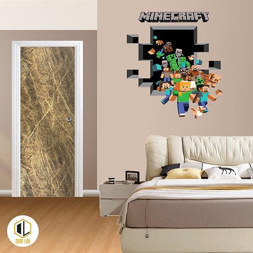 Solid Laminate Bedroom Door - Golden Tip