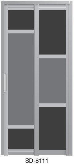 Slide & Swing Toilet Door SD-8111