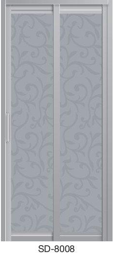 Slide & Swing Toilet Door SD-8008
