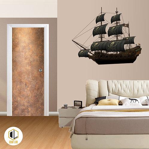 Solid Laminate Bedroom Door - Sunny Rock