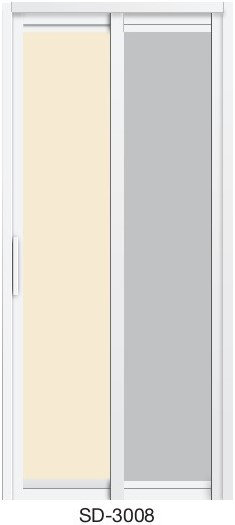 Slide & Swing Toilet Door SD-3008