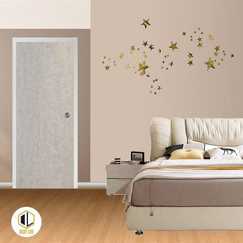 Solid Laminate Bedroom Door - Dove Cement