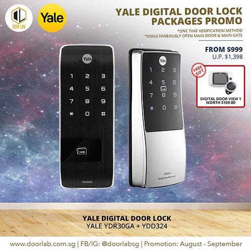 Yale Digital Door Lock Bundle Deal  YDR30GA + YDD324