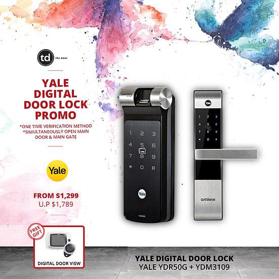 Yale YDR50G + YDM3109 Digital Door Lock Bundle Deal