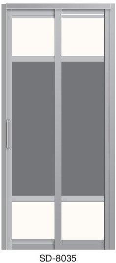 Slide & Swing Toilet Door SD-8035
