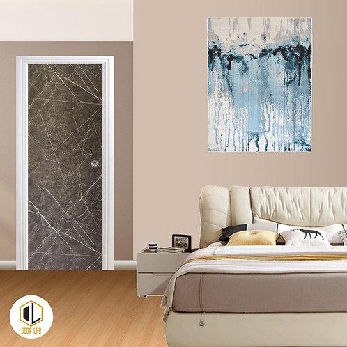 Solid Laminate Bedroom Door - Dark Matt Marble