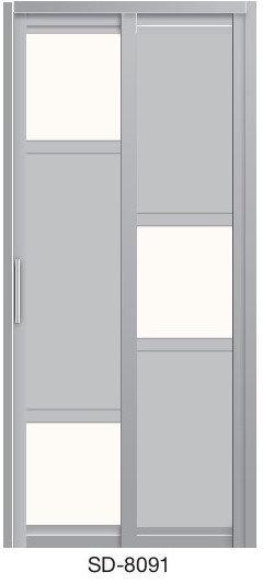 Slide & Swing Toilet Door SD-8091
