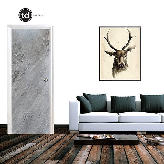 Laminate Solid Bedroom Door- TD1912 Grey Matt Marble