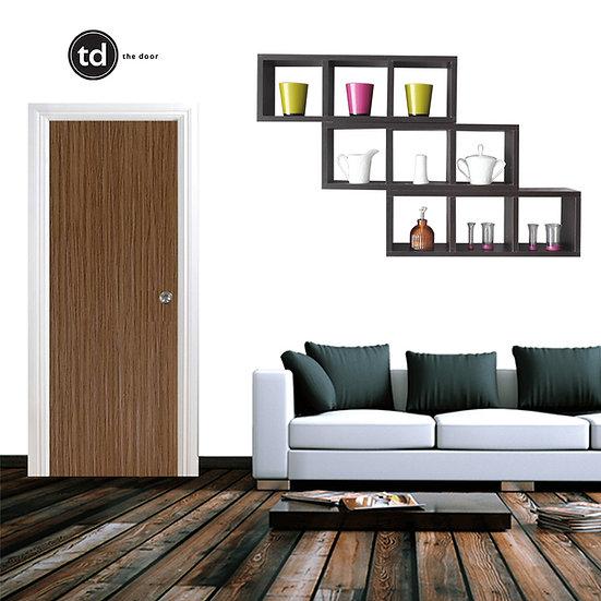 Laminate Solid Bedroom Door- TD11 Simple Brown