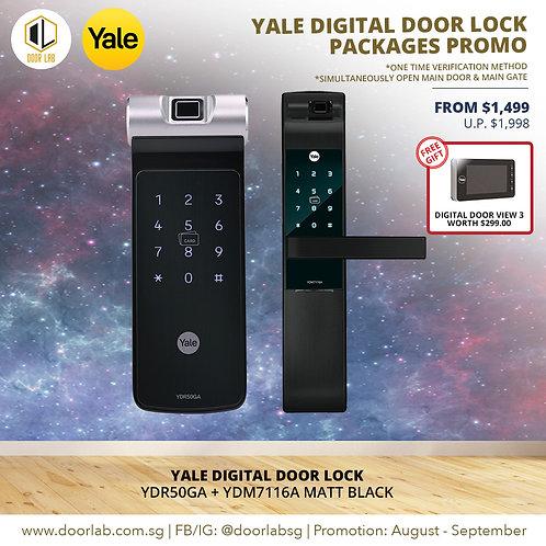 Yale Digital Door Lock Bundle Deal YDR50GA + YDM7116A MB