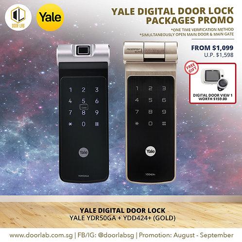 Yale Digital Door Lock Bundle Deal YDR50GA + YDD424+