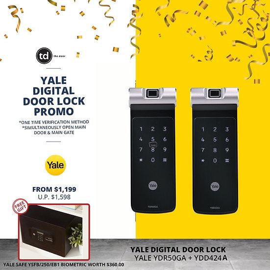 Yale YDR50GA + YDD424A Digital Door Lock Bundle Deal