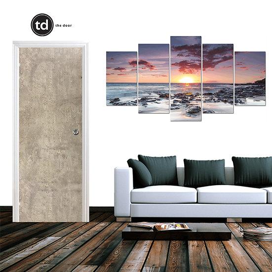 Laminate Solid Bedroom Door- TD1904 Ash Concrete
