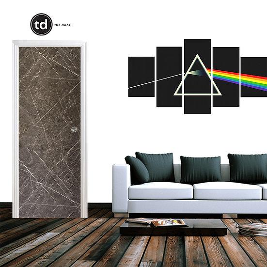 Laminate Solid Bedroom Door- TD1909 Black Matt Marble