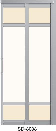 Slide & Swing Toilet Door SD-8038