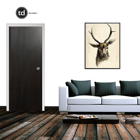 Laminate Solid Bedroom Door- TD19 Black Pine