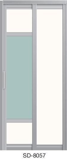 Slide & Swing Toilet Door SD-8057