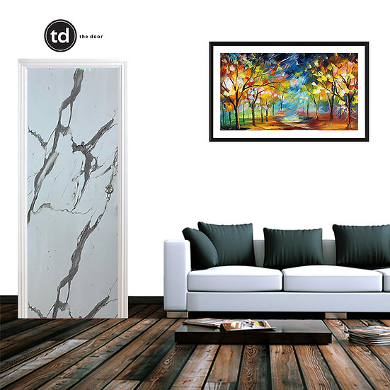 Laminate Solid Bedroom Door- TD1902 Glaze Marble