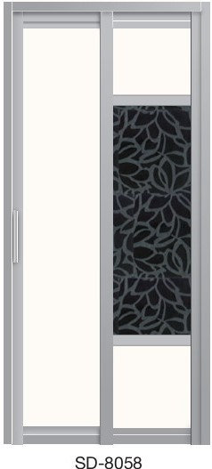 Slide & Swing Toilet Door SD-8058
