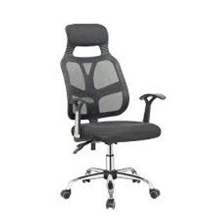 Cadeira Presidente giratória tela mesh com braços