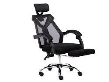 Cadeira giratória Presidente Tela mesh com braços e cabeça