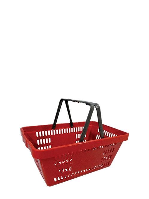 Cesto de compras plástica