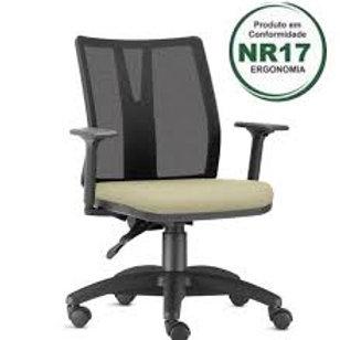 Cadeira De Escritório Presidente Encosto Em Tela Regulável Frisokar Addit