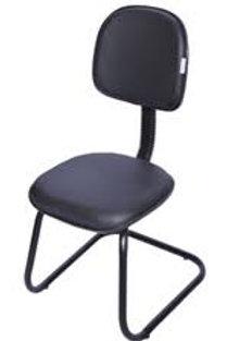 Cadeira secretaria fixa visitante pé em S