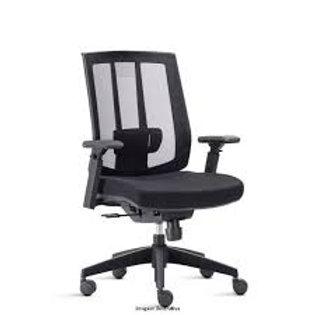 Cadeira giratória Presidente tela mesh com braços Song