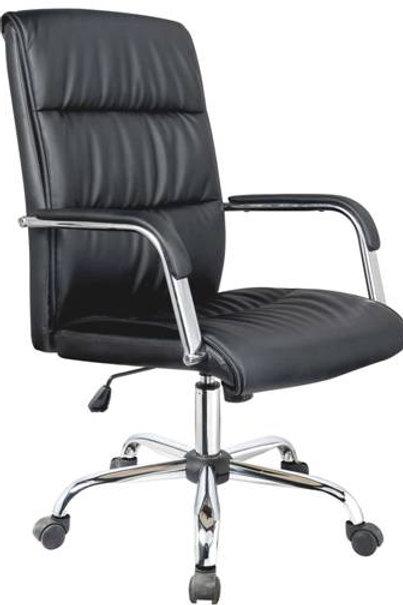 Cadeira Presidente giratória base cromada Plus
