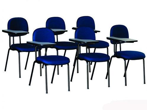 Kit Cadeira Universitária Secretária Prancheta