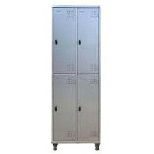 Roupeiro de aço Armário vestiário loker 4 portas pitao cadeado