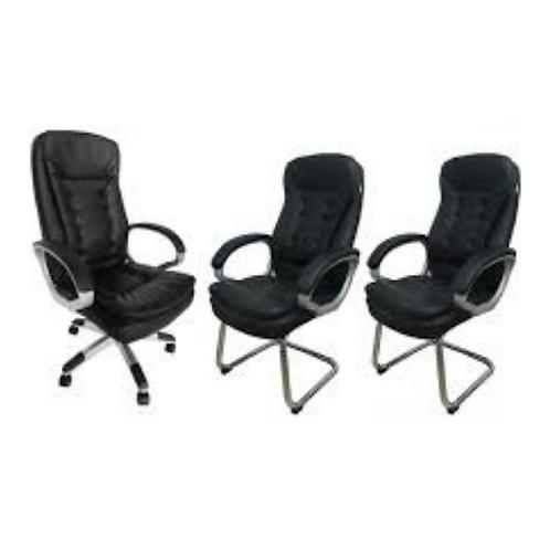 Kit cadeiras para escritório estofada