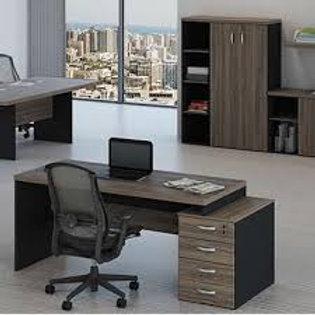 Mesa escritório tampo 40mm M40 extensível