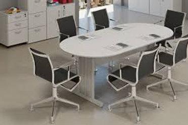 Mesa de Reuniões oval escritório 200x100 M15