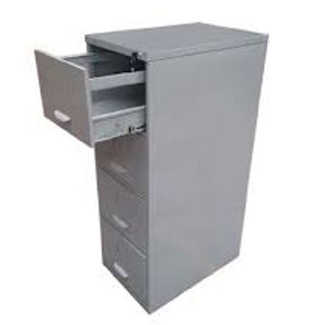 Arquivo de aço 4 gavetas deslizantes com chaves 70cm