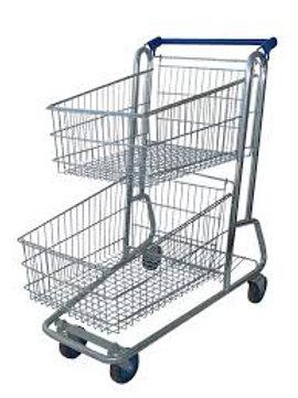 Carrinho de Compras para Supermercado 90 Litros Duplo Amapá