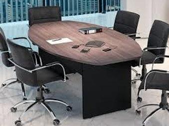 Mesa de reuniões oval tampo 25mm